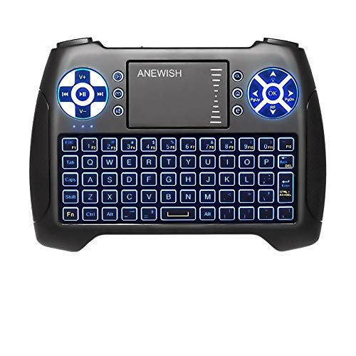 (2020 Latest, Backlit) ANEWISH 2.4GHz Mini Wireless Keyboard with Touchpad Mouse Combo,...