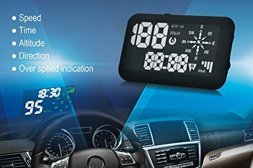 Echoman EM03A Universal GPS Car Head Up Display, HUD, Speedometer, Time, Direction,...