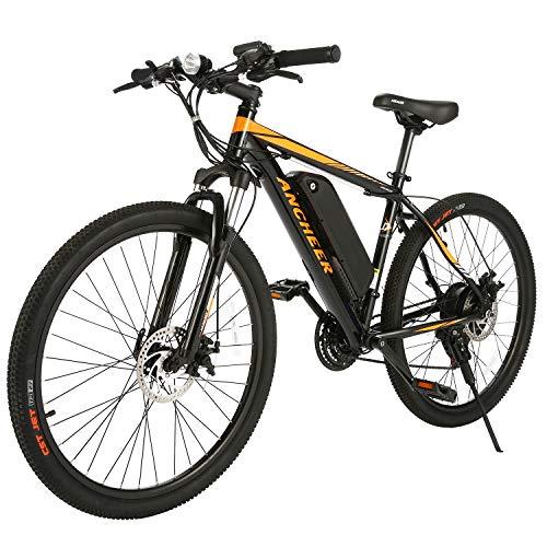 ANCHEER Electric Bike Electric Mountain Bike 350W Ebike 26'' Electric Bicycle, Newest...