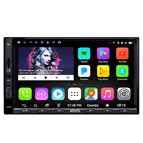 ATOTO A6 Pro A6Y2721PRB Double DIN Android Car Navigation Stereo - Dual Bluetooth w/aptX -...