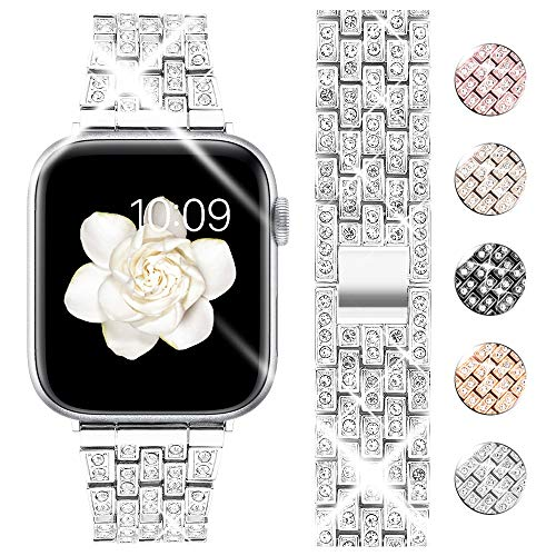 Goton Bling Band Compatible for Apple Watch Band 44mm 42mm , Women Luxury Diamond Bling...