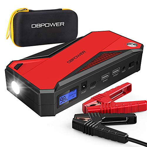 DBPOWER 800A 18000mAh Portable Car Jump Starter (up to 7.2L Gas, 5.5L Diesel Engine)...