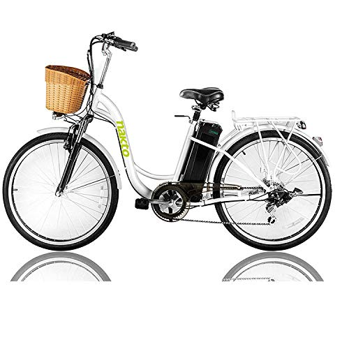 NAKTO 26' 250W Cargo Electric Bicycle Sporting Shimano 6 Speed Gear EBike Brushless Gear...