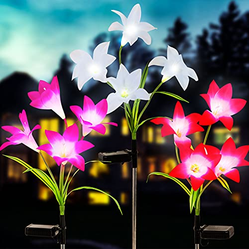 GOLDEN AUTUMN Solar Lights Outdoor Decorative,3 Pack Solar Garden Lights , 12 Bigger...