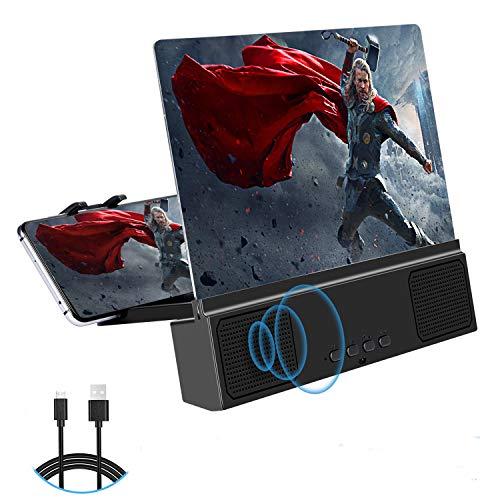 3D Phone Screen Amplifier,12' HD Screen Amplifier with Bluetooth Spearker Anti-Blue Light...