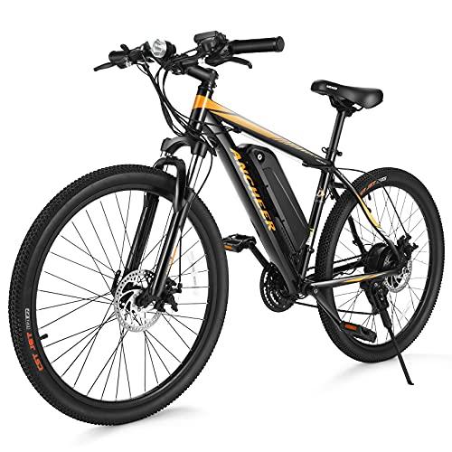 ANCHEER Electric Bike Electric Mountain Bike 350W Ebike 26'' Electric Bicycle, 20MPH...