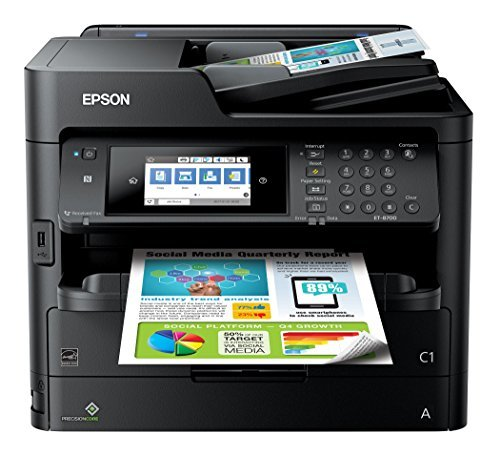 Epson Workforce Pro ET-8700 EcoTank Color All-in-One Supertank Printer with Scanner,...