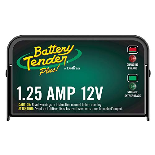 Battery Tender Plus Charger and Maintainer: 12V, 1.25 Amp Powersport Battery Charger and...