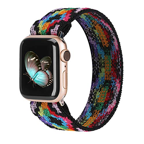 TOYOUTHS Elastic Band Compatible with Apple Watch Band Scrunchies Stretchy Solo Loop...