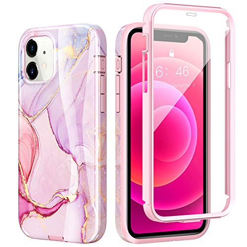 ZtotopCase Marble for iPhone 12 Mini Case 5.4 Inch, [Built-in Screen Protector] Stylish...