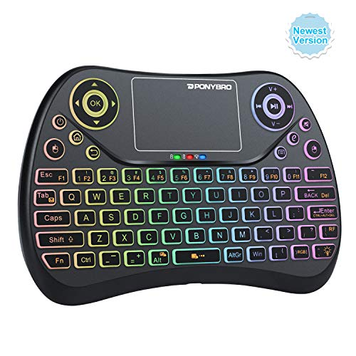(Newest Version) PONYBRO Mini Wireless Keyboard with Touchpad QWERTY...
