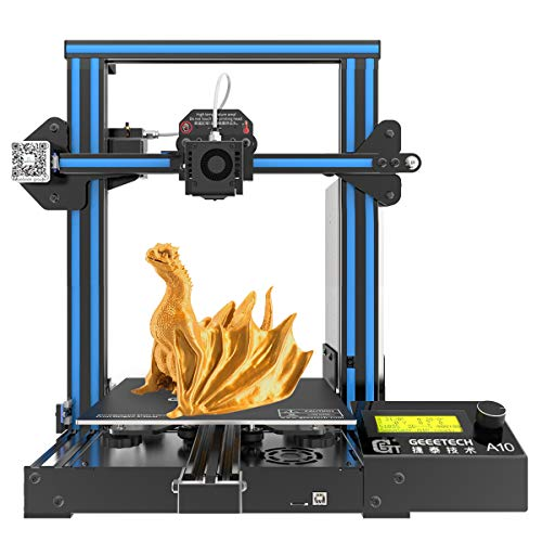 GEEETECH A10 3D Printer, Fast-Assembled Aluminum Profile DIY kit, with Open Source...