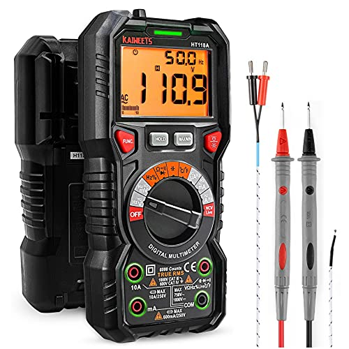KAIWEETS Digital Multimeter TRMS 6000 Counts Voltmeter Auto-Ranging Fast Accurately...