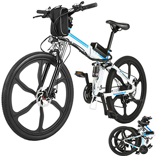 Aceshin 26' Folding Electric Bike with Removable Large Capacity Lithium-Ion Battery (36V...