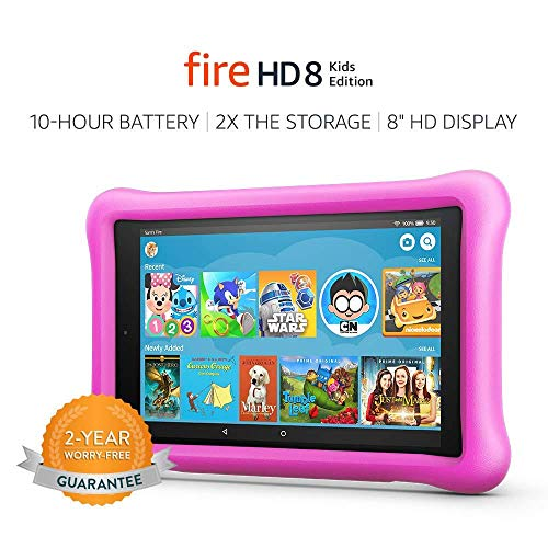 Fire HD 8 Kids Edition Tablet, 8' HD Display, 32 GB, Pink Kid-Proof Case (Previous...