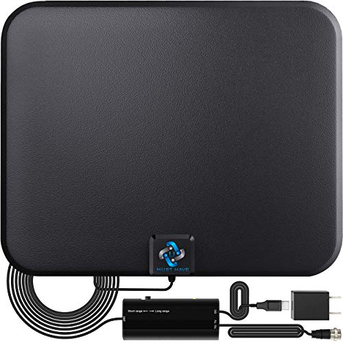 U MUST HAVE Amplified HD Digital TV Antenna Long 250+ Miles Range - Support 4K 1080p Fire...