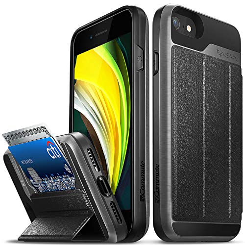 Vena vCommute Wallet Case Compatible with Apple iPhone SE 2020 / iPhone 8 7 (4.7'-inch),...