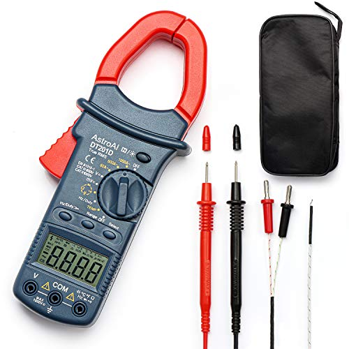 AstroAI Digital Clamp Meter, TRMS 6000 Counts Multimeter Volt Amp Ohm Meter with Manual...