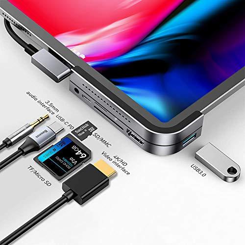 iPad Pro USB C Hub, Baseus 6-in-1 Adapter for iPad Pro 2021 2020 2018 12.9/11 inch,...