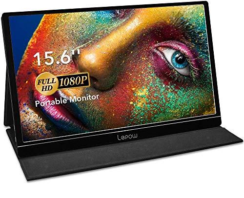 Portable Monitor - Lepow 15.6 Inch Full HD 1080P USB Type-C Computer Display IPS Eye Care...