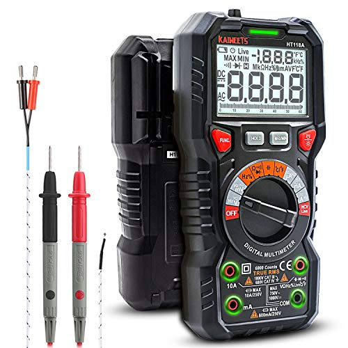 KAIWEETS Digital Multimeter TRMS 6000 Counts Ohmmeter Auto-Ranging Fast Accurately...