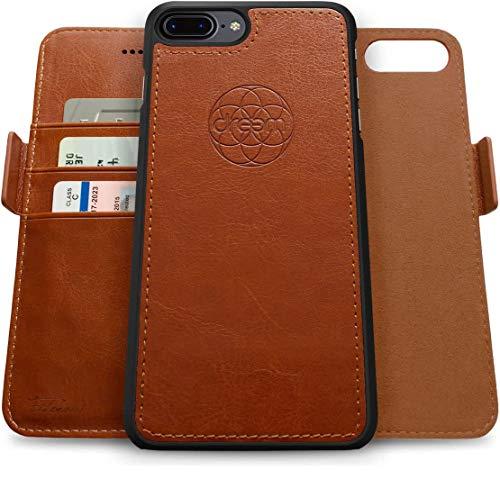 Dreem Fibonacci 2-in-1 Wallet-Case for Apple iPhone 8 Plus & 7 Plus - Luxury Vegan...