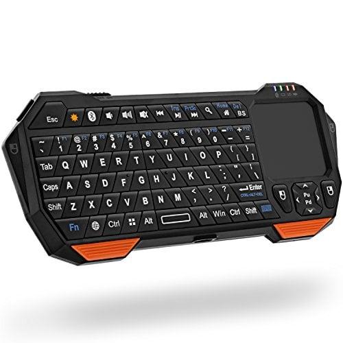 Fosmon Mini Bluetooth Keyboard (QWERTY Keypad), Wireless Portable Lightweight with...