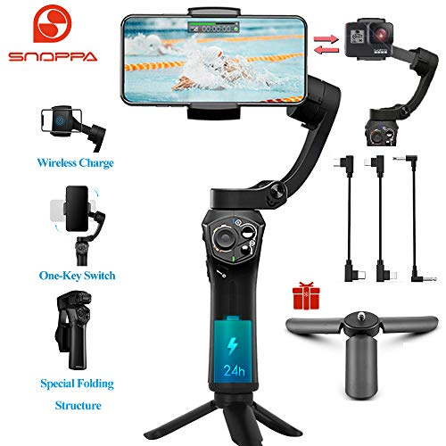 Snoppa Atom 3-Axis Foldable Pocket Sized Handheld Gimbal Stabilizer 310g Payload for GoPro...