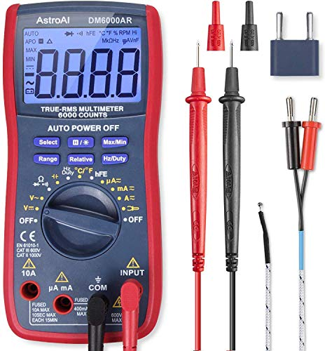AstroAI Digital Multimeter, TRMS 6000 Counts Volt Meter Manual and Auto Ranging; Measures...