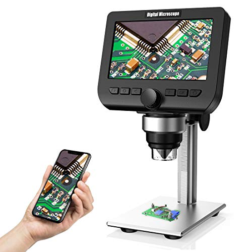 LCD Digital Microscope, YINAMA 4.3 Inch 1080P 2 Megapixels 1000X Magnification Zoom...
