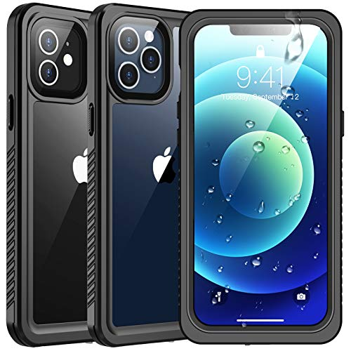 SPIDERCASE Waterproof Case Compatible with iPhone 12 /Compatible with iPhone 12 Pro, Case...