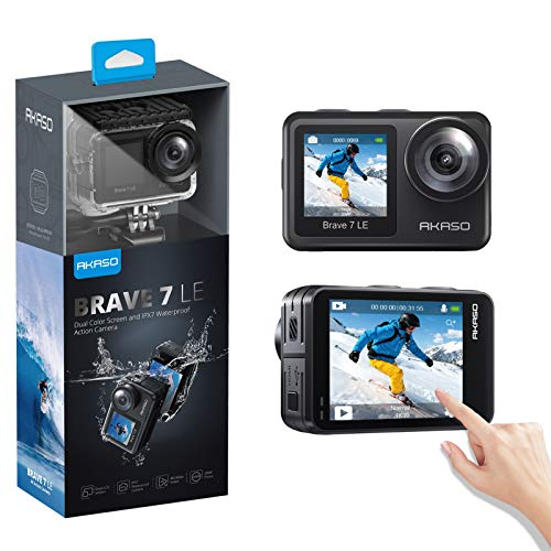 AKASO Brave 7 LE 4K30FPS 20MP WiFi Action Camera with Touch Screen Vlog Camera EIS 2.0...
