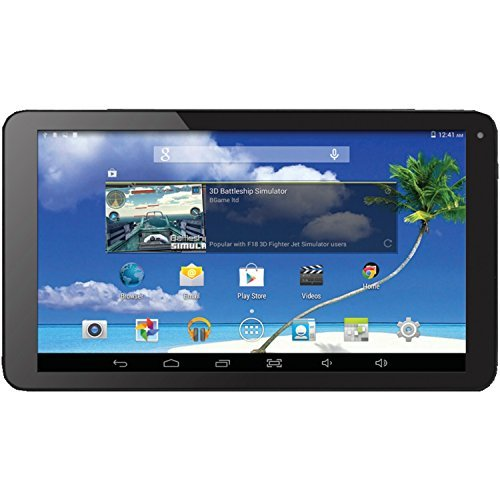 Proscan 10-Inch Tablet, Quad Core, 1 GB RAM, Built in Bluetooth and GPS, Android 4.4...