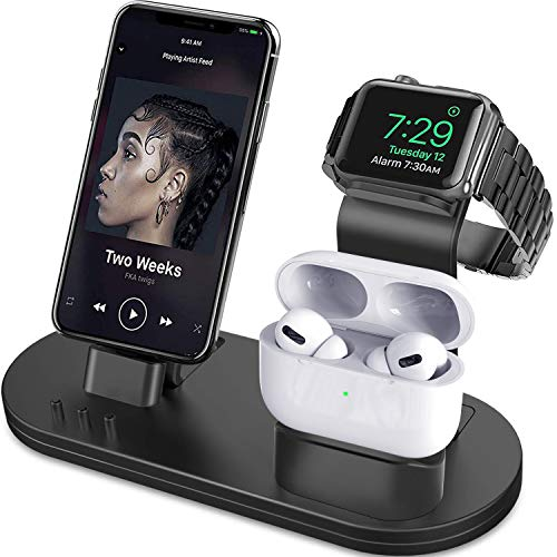 OLEBR 3 in 1 Charging Stand Compatible with iWatch Series 6/SE/5/4/3/2/1, AirPods Pro and...