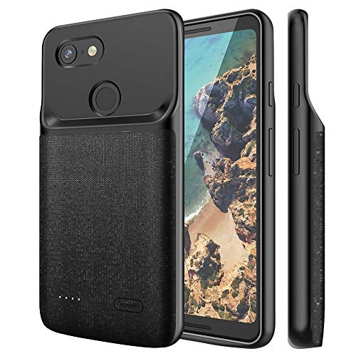 NEWDERY Google Pixel 3 XL Battery Case, 4700mAh Slim Extended Charging Case with TPU...