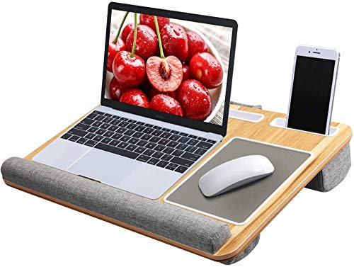 HUANUO Lap Desk - Fits up to 17 inches Laptop Desk, Built in Mouse Pad & Wrist Pad for...