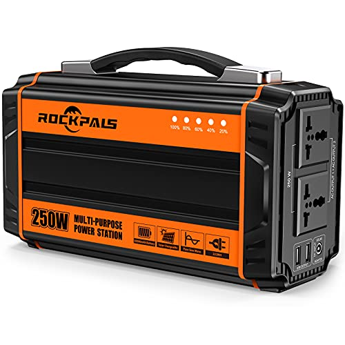 Rockpals 250-Watt Portable Generator Rechargeable Lithium Battery Pack