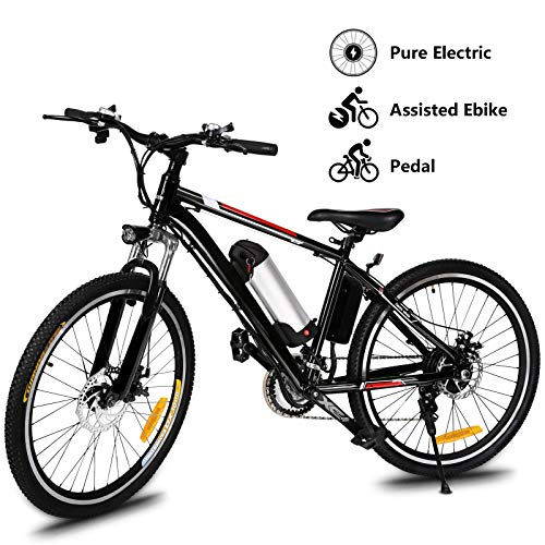 Yiilove Electric Bike for Adult 26'' Mountain Electric Bicycle Ebike 36V Removable Lithium...