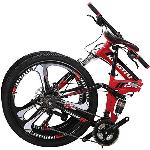 OBK G4/G6 26' Full Suspension Folding Mountain Bike 21 Speed Bicycle Men or Women MTB...