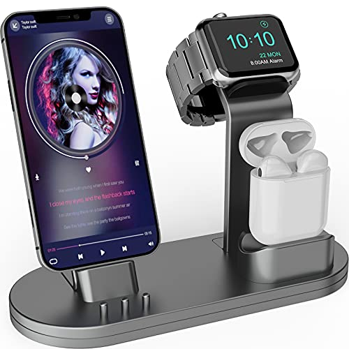 OLEBR 3 in 1 Charging Stand iwatch Stand, Charging Station Compatible with iWatch SE/6/5...