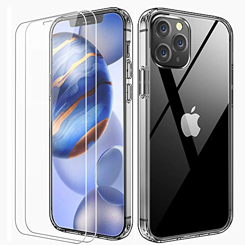 FLOVEME Crystal Clear Compatible with iPhone 12 Case Designed for iPhone 12 Pro Case with...