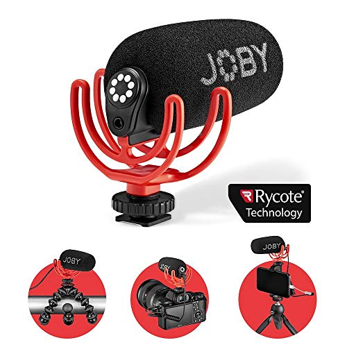 JOBY Wavo On-Camera Vlogging Compact Microphone Super Cardioid Pattern with Rycote...