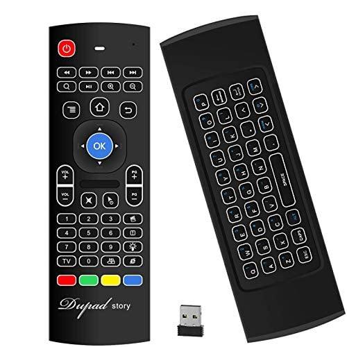 Air Mouse,MX3 Pro Backlit Mini Keyboard Remote Control,Mini Wireless Keyboard & IR...