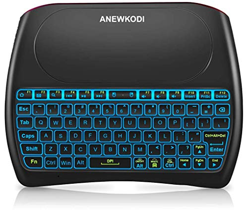 2.4GHz Mini Wireless Keyboard with Touchpad, ANEWKODI Rechargeable Li-ion Battery &...