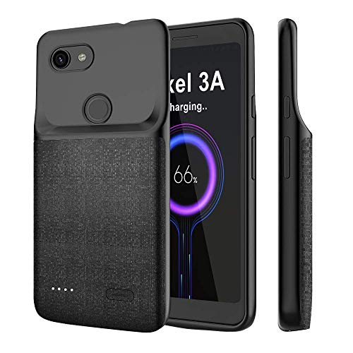 NEWDERY Google Pixel 3A Battery Case, 4700mAh Charging Case Extended Portable Protective...