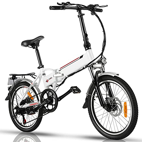 20' Folding Electric Bike with Removable Large Capacity Lithium-Ion Battery (36V 250W),...