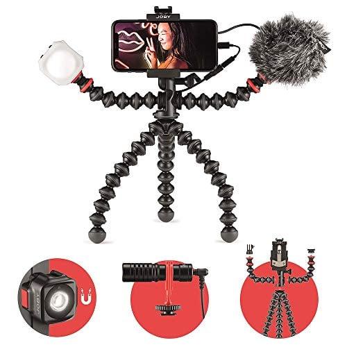 JOBY GorillaPod Mobile Vlogging Kit (Smartphone Rig, Wavo Mobile Mic, Beamo Mini LED...