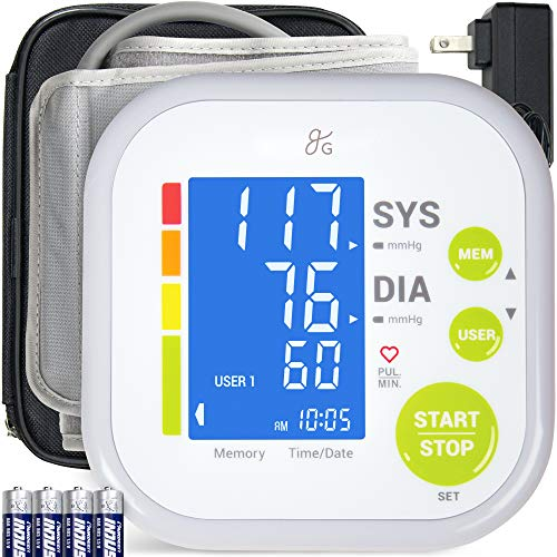 Greater Goods Blood Pressure Monitor Cuff Kit by Balance, Digital BP Meter with Large...