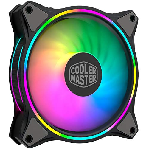 Cooler Master Master Fan MF120 Halo Duo-Ring Addressable RGB Lighting 120mm Fan with...