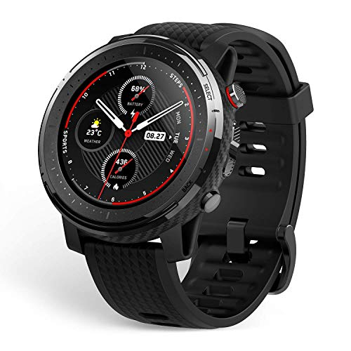 """Amazfit Stratos 3 Sports Smartwatch Powered by FirstBeat, 1.34"""" Full Round Display,..."""